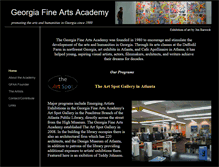 Tablet Preview of georgiafinearts.org